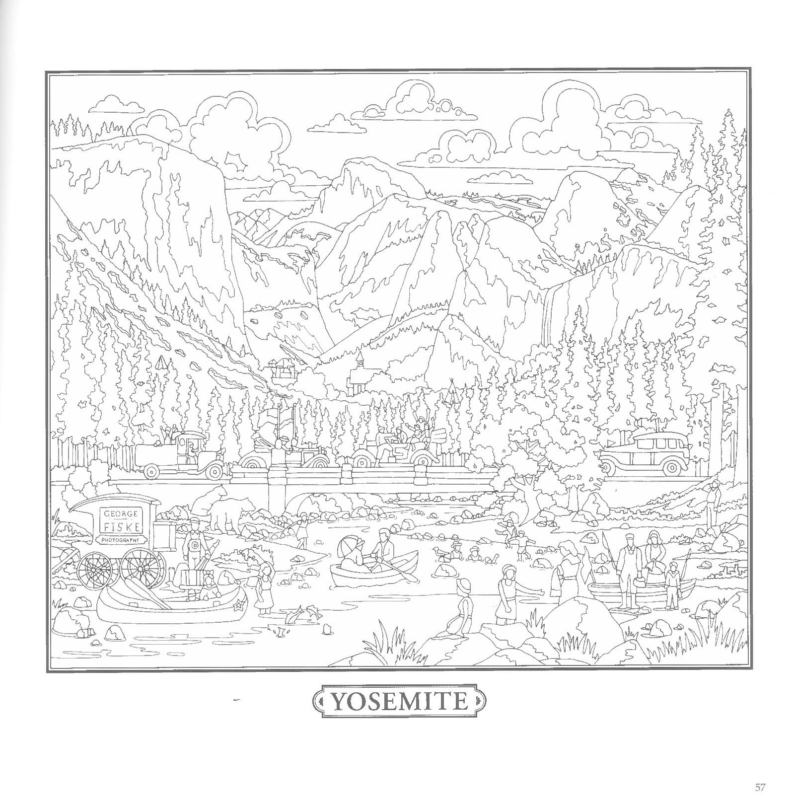 national parks creative coloring book